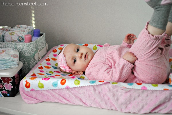 No Sew Diaper Changing Pad, fun gift at thebensonstreet.com