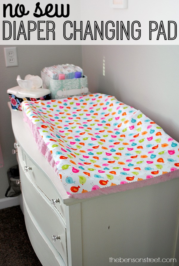 So easy!! No Sew Diaper Changing Pad Tutorial at thebensonstreet.com