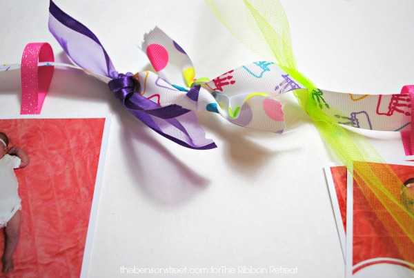 Simple Baby's First Birthday Ribbon Banner at thebensonstreet.com