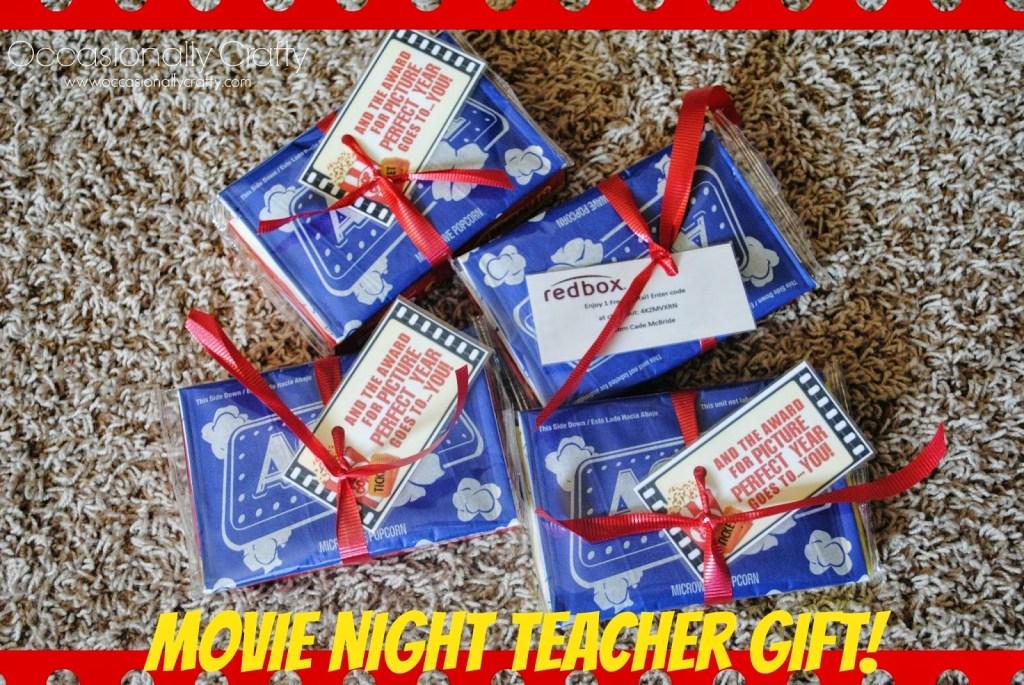 movie night teacher gift