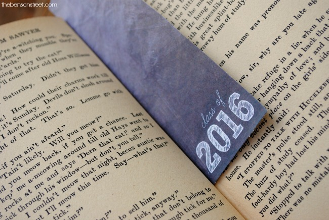 Great graduation gift! A Class of 2016 Bookmark at thebensonstreet.com