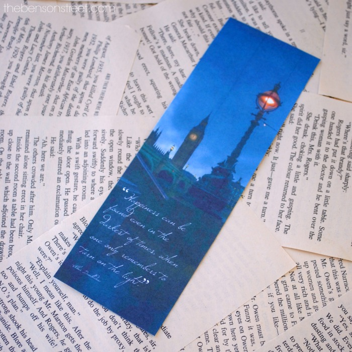 FREE Dumbledore Quote Bookmark for Harry Potter lovers via thebensonstreet.com