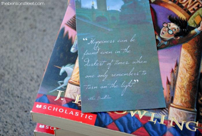 Free printable Harry Potter Quote Bookmark via thebensonstreet.com