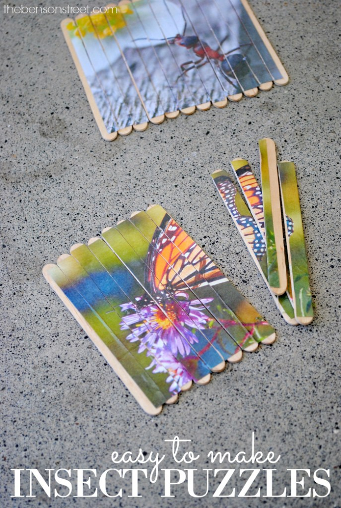 Simple and easy to make insect puzzles at thebensonstreet.com