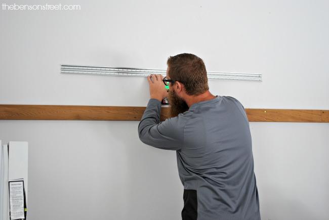 Installing Garage Organzing hooks via thebensontreet.com