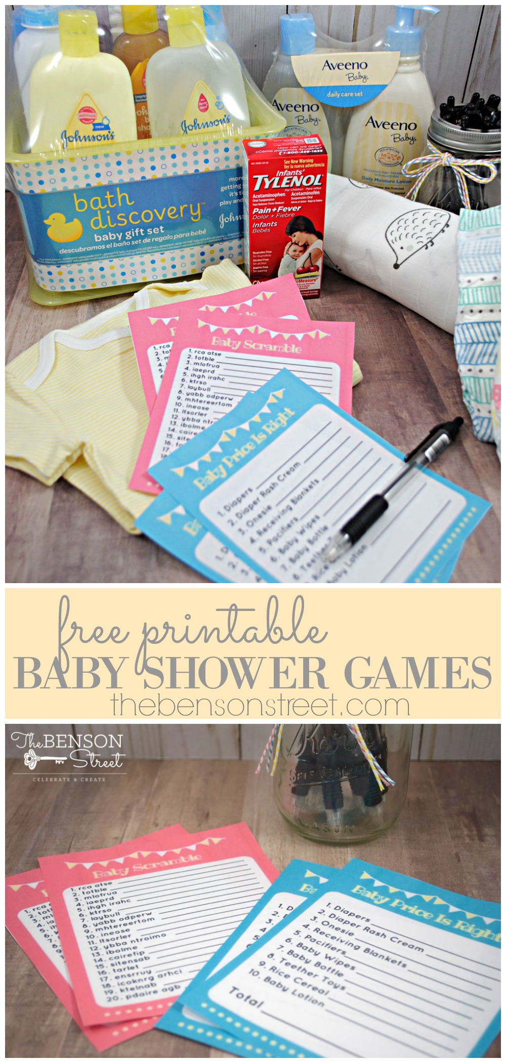 Free Printable Baby Shower Games - The Benson Street
