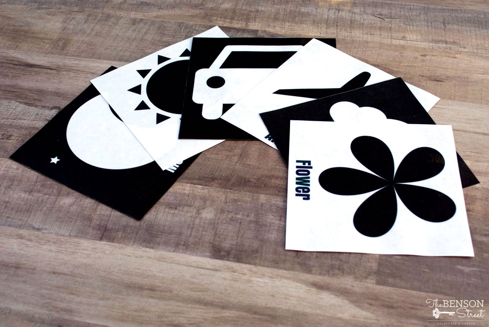 Black and White Baby Flashcards - The Benson Street