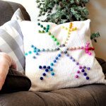 Rainbow Snowflake Pillow