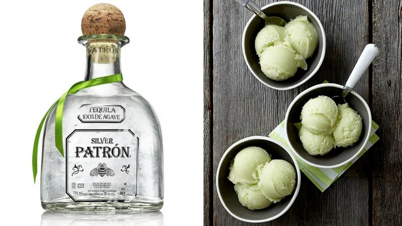 Tequila and Fresh Basil Sorbet