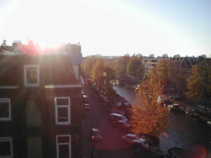View from apartment balcony in Amsterdam