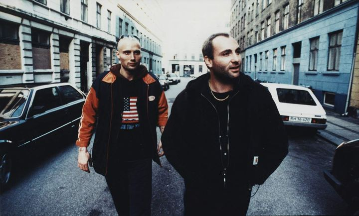 Kim Bodnia and Mads Mikkelson in 'Pusher'