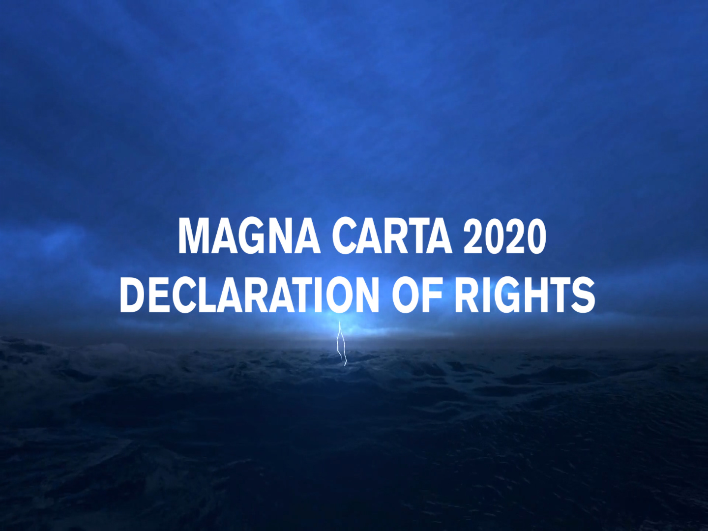 The Antidote To COVID-1984 Is Magna Carta 2020