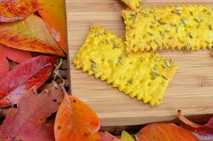 Crispy Pumpkin Curry Crackers with Fennel Seeds