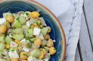 Cucumber, Chickpea, Feta and Parsley Salad