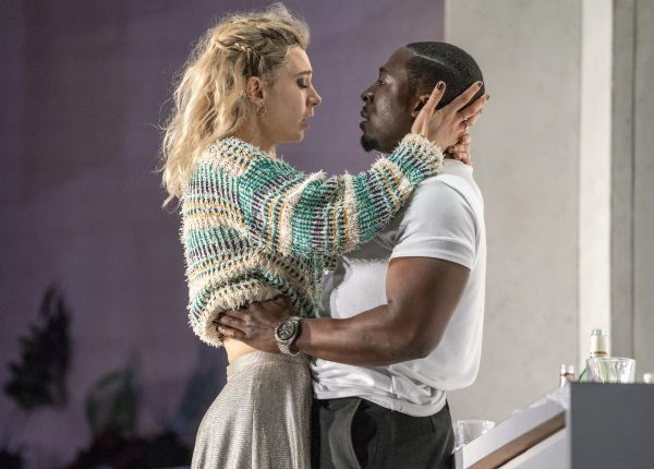 4558 Vanessa Kirby as Julie and Eric Kofi Abrefa as Jean in Julie at the National Theatre (c) Richard H Smith