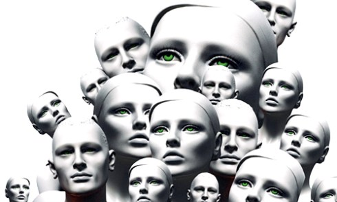 blank mannequin heads male and female