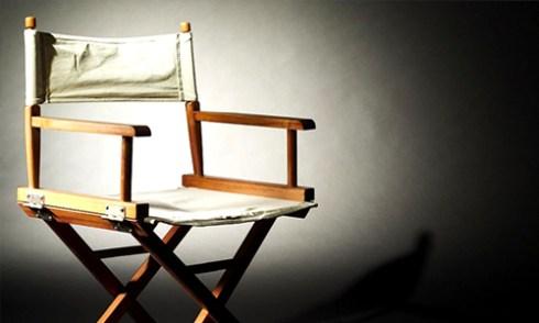 director's chair in spotlight
