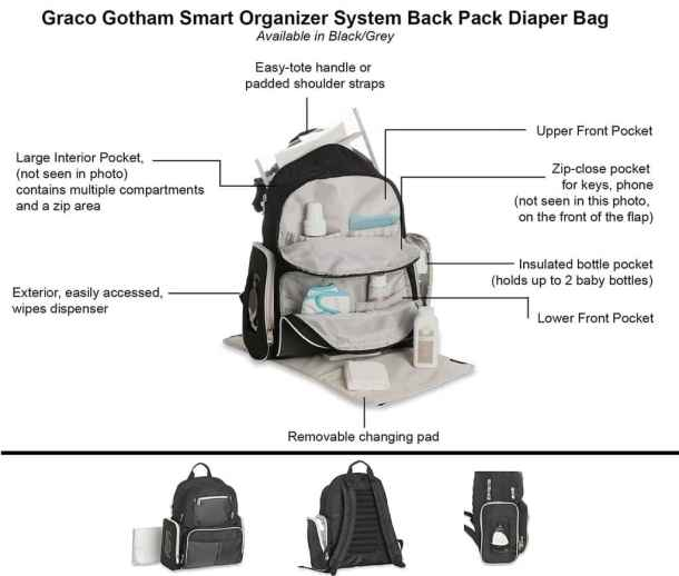 Expert Review of Graco Gotham Backpack Diaper Bag - One of the best Backpack Diaper Bags