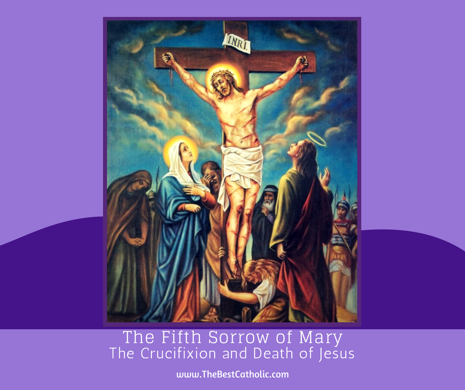lent series the fifth sorrow of mary and consoling jesus and his