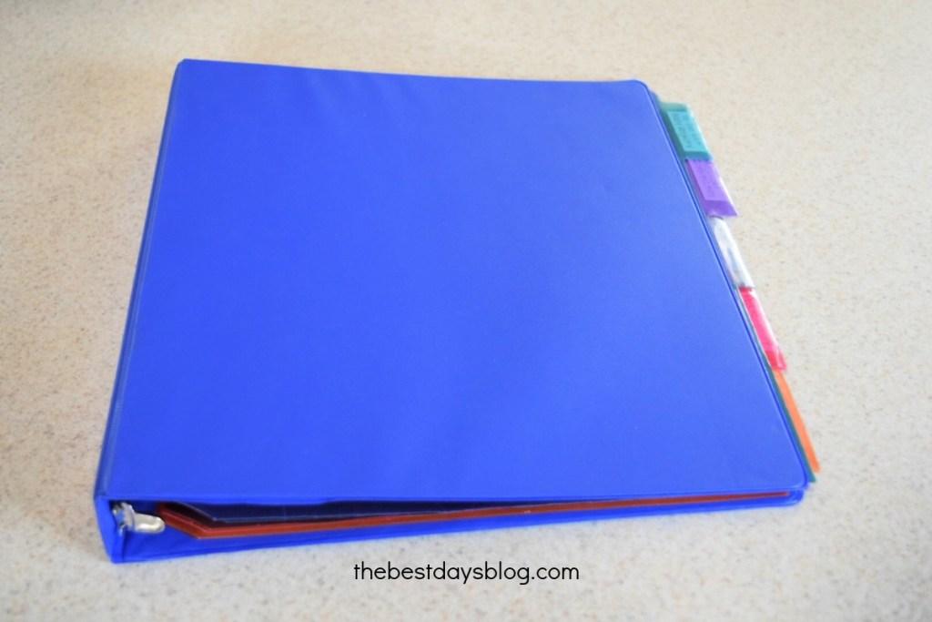 prenatal planner blue binder