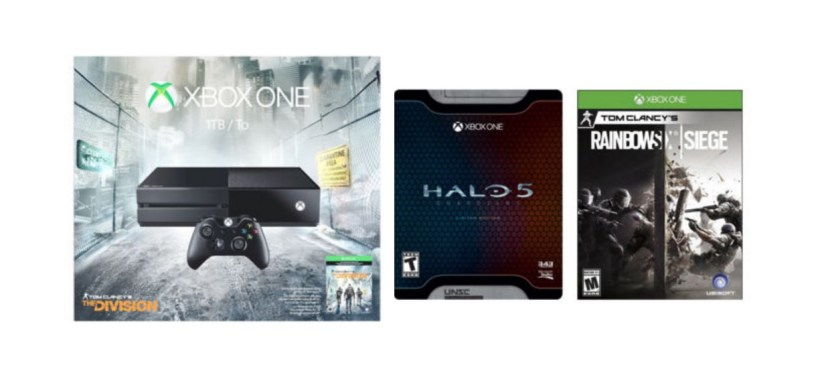 Xbox one Tom Clancy Division 1TB console + Halo 5 limited