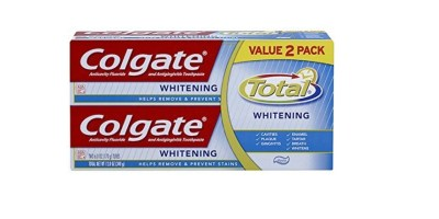 Colgate Total Whitening Toothpaste Twin Pack