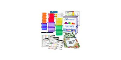 14 Piece Portion Control Containers DELUXE Kit with COMPLETE GUIDE 21 DAY PLANNER RECIPE eBOOK by Efficient Nutrition