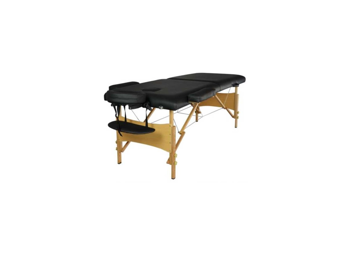 "2"" Pad 84"" Black Portable Massage Table w/Free Carry Case Chair Bed Spa Facial for $59.99 at eBay"