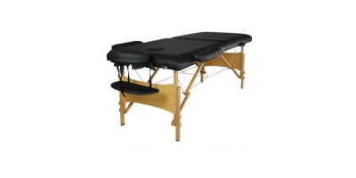 2Pad 84 Black Portable Massage Table with Free Carry Case Chair Bed Spa Facial T