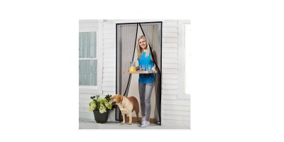 Homitt Magnetic Screen Door with Heavy Duty Mesh Curtain and Full Frame Velcro Fits Door Size up to 36inch-82inch Max