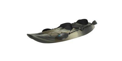 Lifetime 10inch Tandem Fishing Kayak with Paddles & Backrests Camouflage