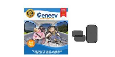 3-Pack Veneev Car Sun Shade for Side and Rear Window