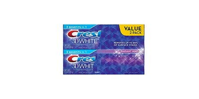 3.5 oz Twinpack Crest 3D White Radiant Mint Whitening Toothpaste