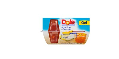 4-Pack 4.3 Ounce  Dole Bowls-Mixed Fruit in Peach Gel