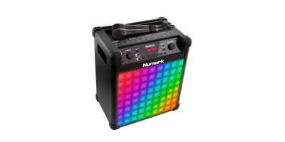 Numark Sing Master Karaoke System with Microphones,Effects, LED Lights + Cables