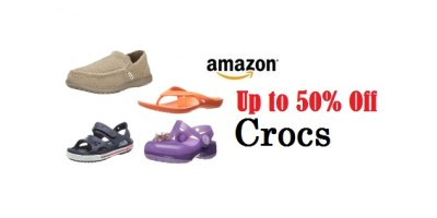 Save Up to 50% Off Crocs