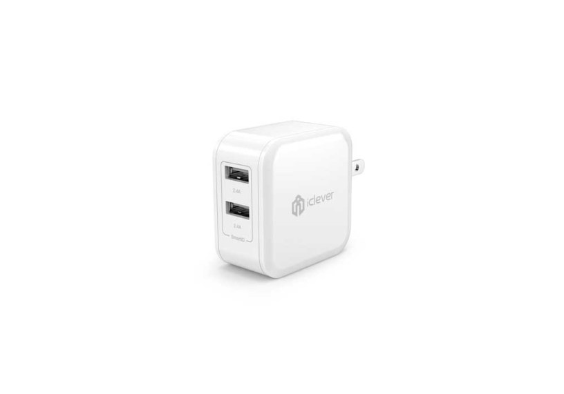 Clever BoostCube 4.8A 24W Dual USB Travel Wall Charger with SmartID Technology - Foldable