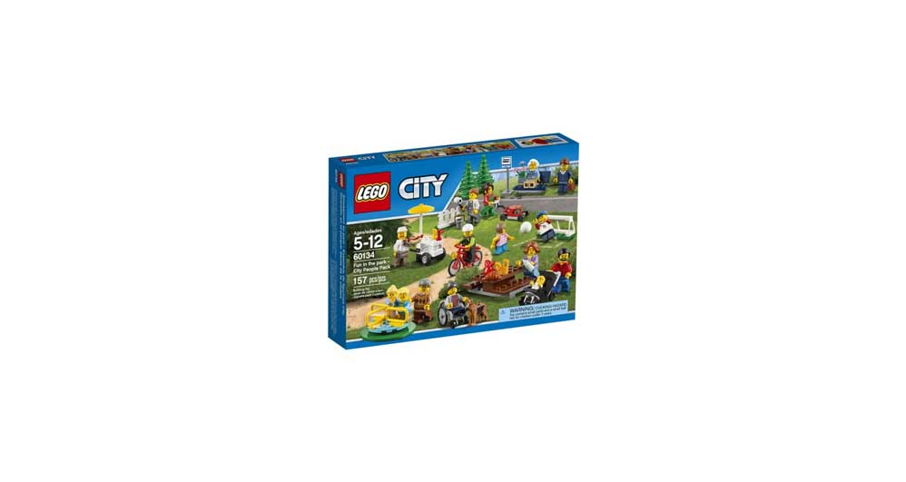 157 Piece LEGO City Town Fun in the Park – City People Pack Building ...