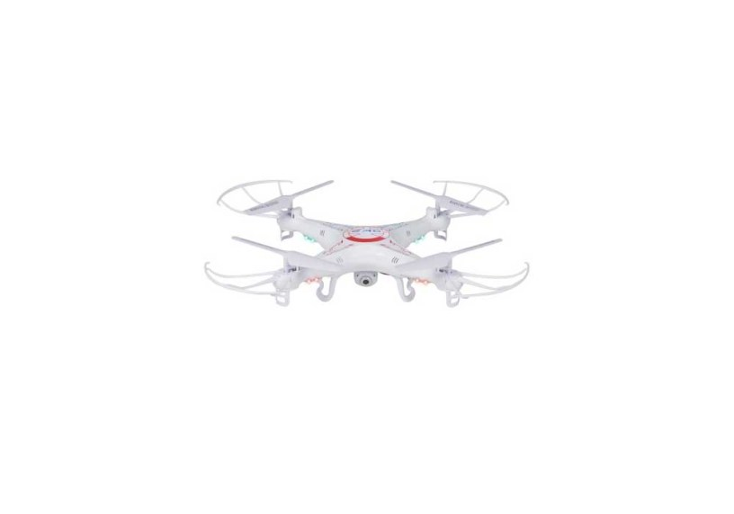 RC 6-Axis Quadcopter Flying Drone Toy With Gyro and HD Camera Remote Control LED Lights
