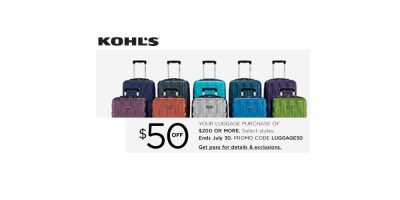 Shop and Get 50% off Luggages