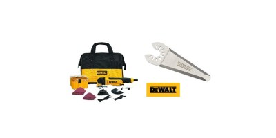 DEWALT Multi Material Corded Oscillating Tool Kit with Oscillating Triangular Rigid Scraping Blade (DWE315K)