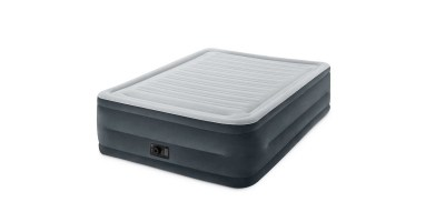 Intex Comfort Plush Elevated Dura-Beam Airbed with Built-in Electric Pump – Bed Height 22 (Queen)