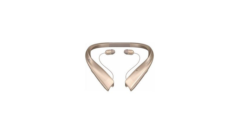 LG – TONE Platinum Wireless In-Ear Behind-the-Neck Headphones (Gold)
