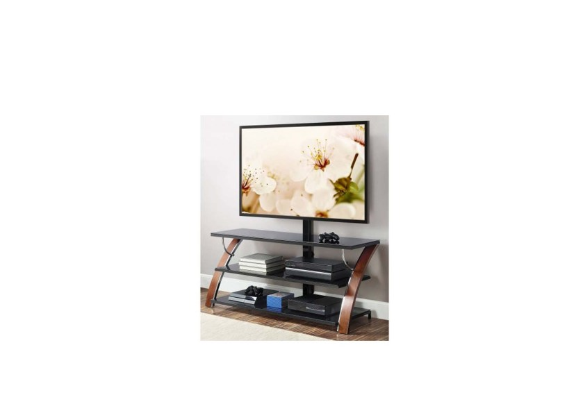 Whalen Brown Cherry 3 In 1 Flat Panel Tv Stand For 99 00 At Amazon