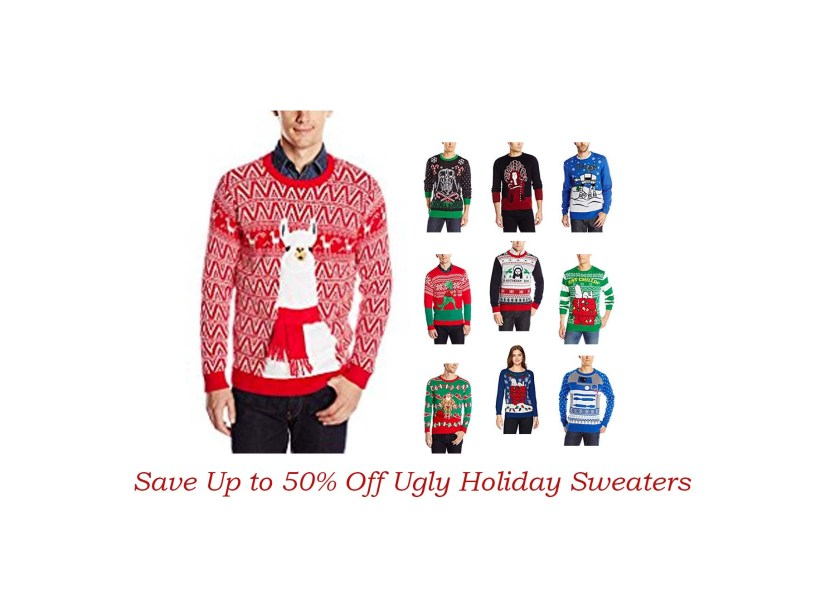 blizzard bay mens festive llama ugly christmas sweater for 2099 at amazon - Ugly Christmas Sweater Amazon