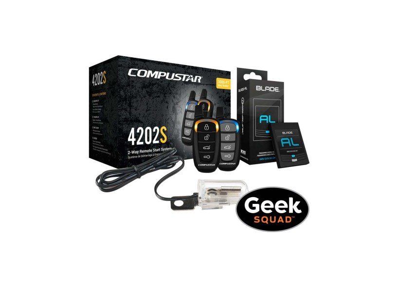 Compustar – CS4202-S-KIT 2-Way Remote Start System with Tilt Switch and Geek Squad Installation