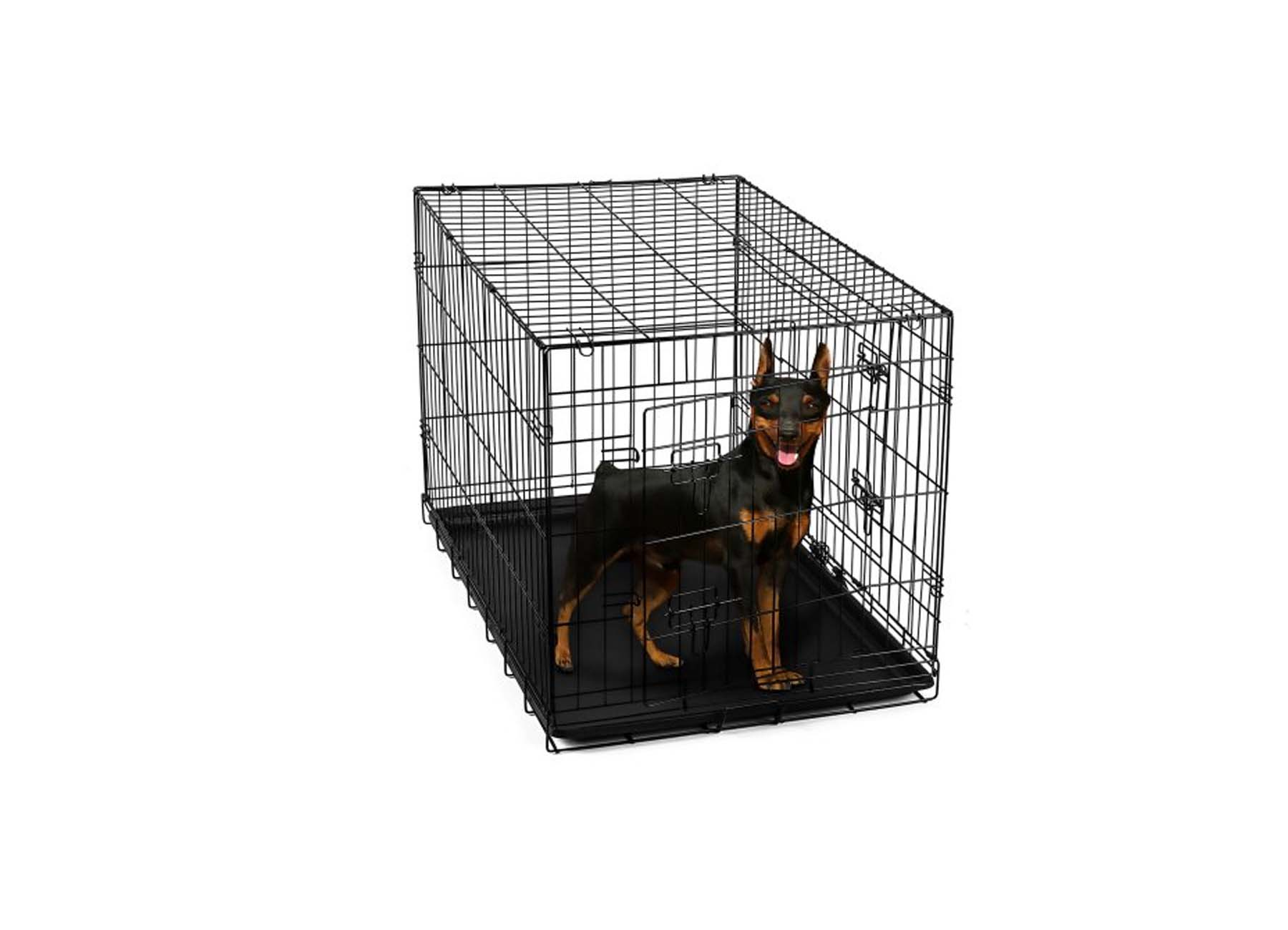 OxGord 24u2033 Heavy Duty Foldable Double Door Dog Crate With Divider For  $24.95 At Walmart