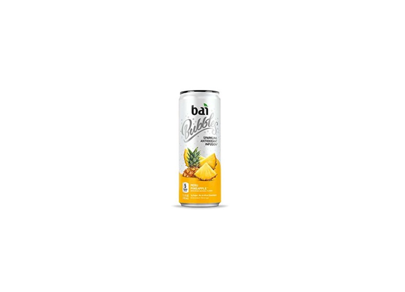 12 count Bai Bubbles Peru Pineapple, Antioxidant Infused, Sparkling Water Drinks – 11.5 Fluid Ounce Cans