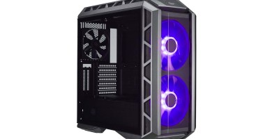 Cooler Master MasterCase H500P ATX Mid Tower Case w Dual 200mm RGB Fans & Tempered Glass Side Panels