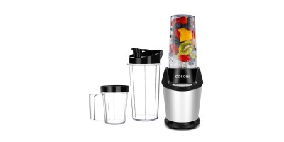 Cosori Personal Blender, 10-Piece with Cleaning Brush, Cups, and Bottles